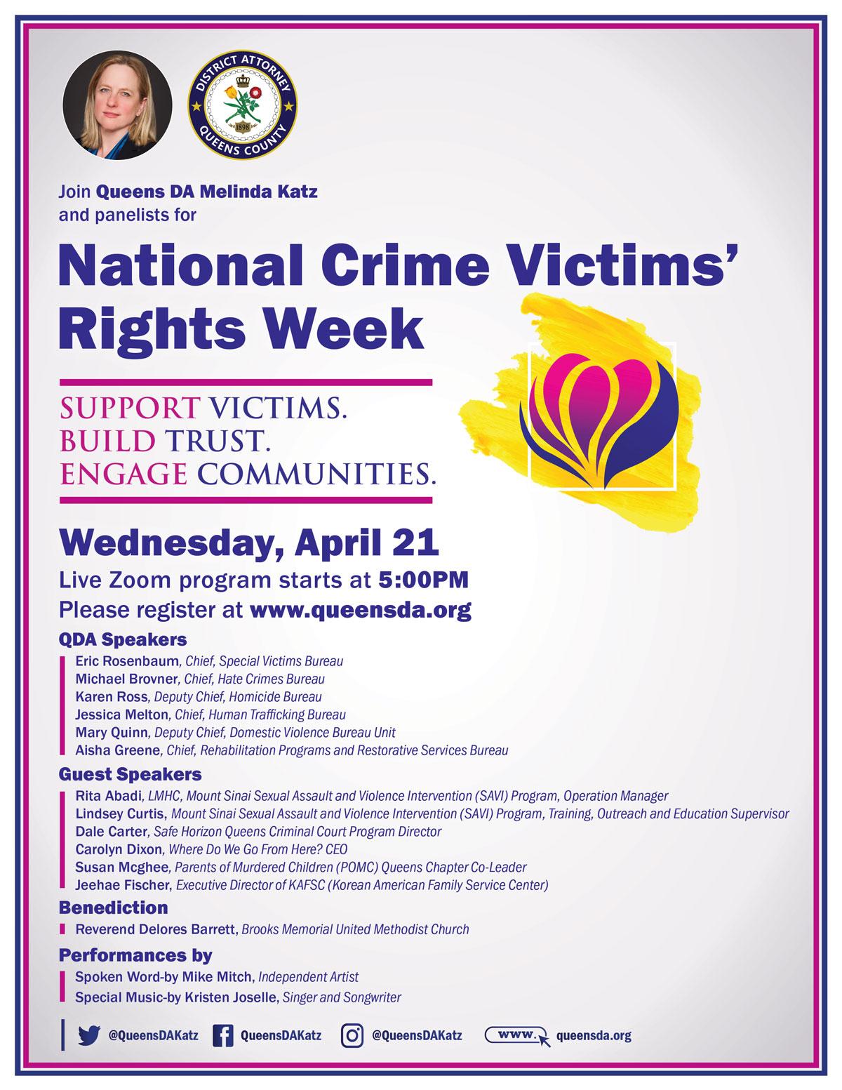 Crime Victims Rights Week 2021 Seminar